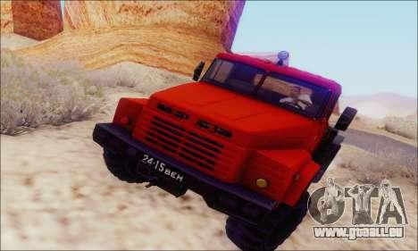 KrAZ 260v pour GTA San Andreas sur la vue arrière gauche