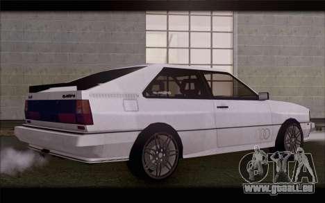 Audi S1 Quattro pour GTA San Andreas laissé vue