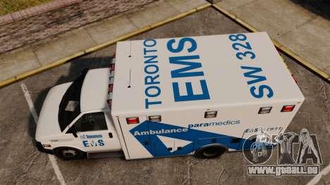 Brute Ambulance Toronto [ELS] für GTA 4 rechte Ansicht