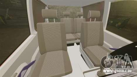 Mercedes-Benz Vito Metropolitan Police [ELS] pour GTA 4 est une vue de l'intérieur