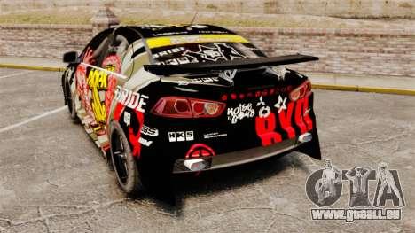 Mitsubishi Lancer Evolution X Ryo King pour GTA 4 Vue arrière de la gauche