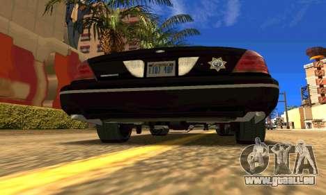 Ford Crown Victoria Police LV pour GTA San Andreas sur la vue arrière gauche