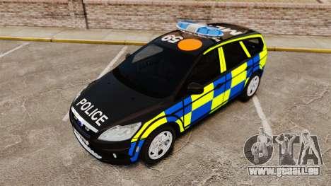 Ford Focus Estate 2009 Police England [ELS] für GTA 4 Rückansicht