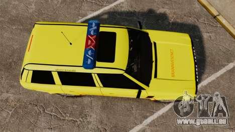 Range Rover Vogue Brannvesenet für GTA 4 rechte Ansicht