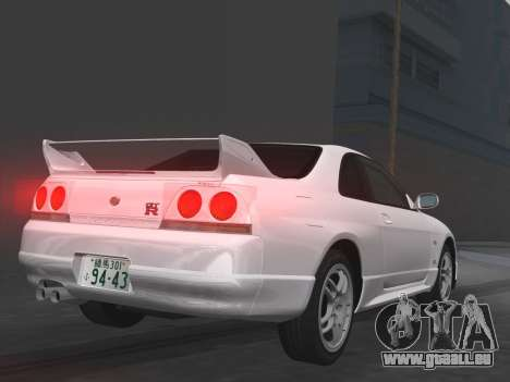 Nissan SKyline GT-R BNR33 pour GTA Vice City Salon