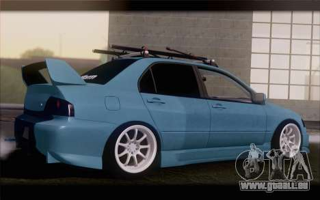 Mitsubishi Lancer Evolution Stance für GTA San Andreas linke Ansicht