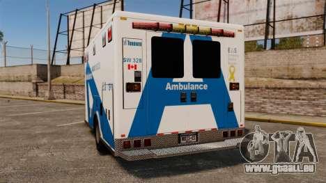 Brute Ambulance Toronto [ELS] pour GTA 4 Vue arrière de la gauche