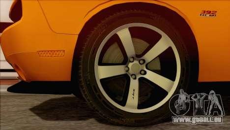 Dodge Challenger SRT8 2012 HEMI pour GTA San Andreas sur la vue arrière gauche