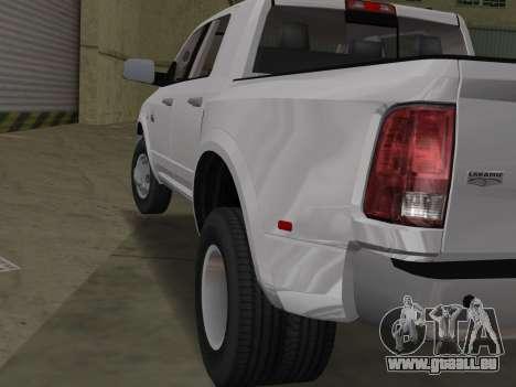 Dodge Ram 3500 Laramie 2012 pour une vue GTA Vice City de la droite