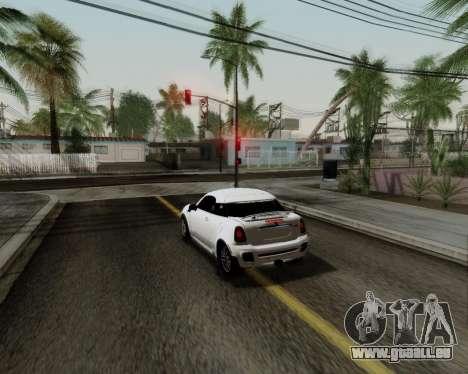 MINI Cooper S 2012 pour GTA San Andreas vue intérieure