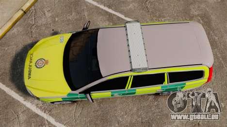 Volvo V70 Ambulance [ELS] für GTA 4 rechte Ansicht