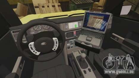 Range Rover Vogue Brannvesenet pour GTA 4 Vue arrière