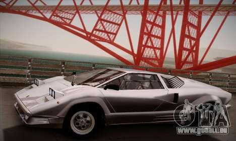 Lamborghini Countach 25th Anniversary pour GTA San Andreas vue de droite