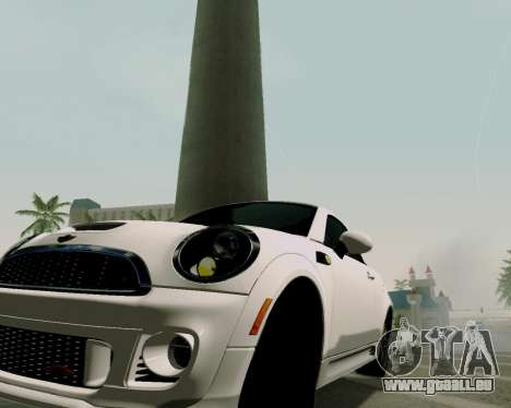 MINI Cooper S 2012 pour GTA San Andreas vue de droite