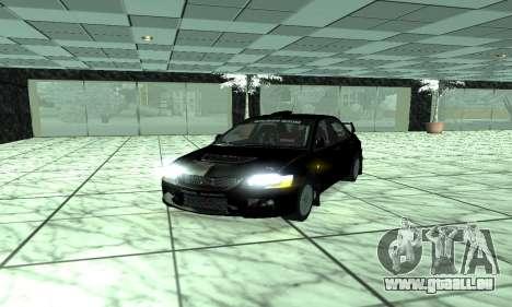 Mitsubishi Lancer Evo 9 pour GTA San Andreas sur la vue arrière gauche