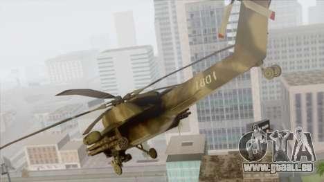 Mi-28 pour GTA San Andreas laissé vue
