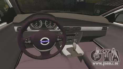 Volvo V70 Unmarked Police [ELS] pour GTA 4 est une vue de l'intérieur