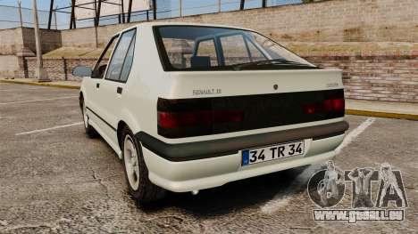 Renault 19 Europa pour GTA 4 Vue arrière de la gauche