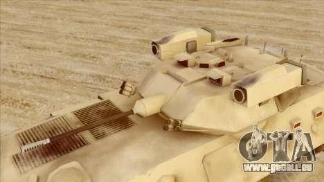 LAV-25 Desert Camo pour GTA San Andreas vue de droite