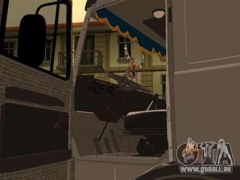 Transporteur de bois 6430 MAZ pour GTA San Andreas vue arrière