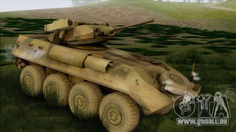 Camouflage forêt LAV-25 pour GTA San Andreas