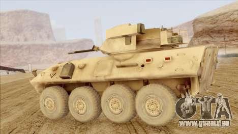 LAV-25 Desert Camo pour GTA San Andreas laissé vue