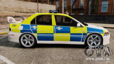 Mitsubishi Lancer Evolution IX Uk Police [ELS] für GTA 4 linke Ansicht