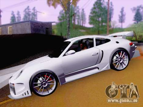 Porsche Carrera S pour GTA San Andreas vue intérieure