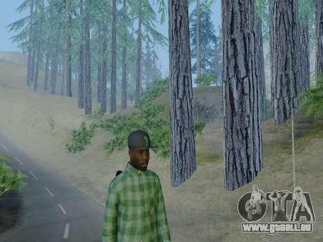 Le membre de gang de Grove Street de GTA 5 pour GTA San Andreas cinquième écran
