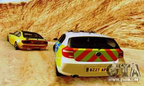 BMW 120i SE Police pour GTA San Andreas vue de côté