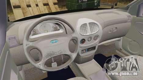 1119-Vaz Lada Kalina pour GTA 4 Vue arrière