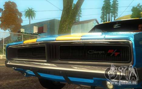 Dodge Charger RT 1969 für GTA San Andreas zurück linke Ansicht