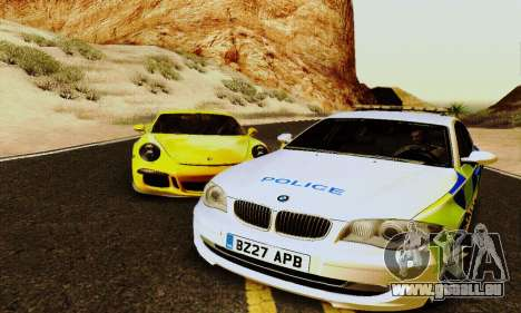 BMW 120i SE Police für GTA San Andreas zurück linke Ansicht