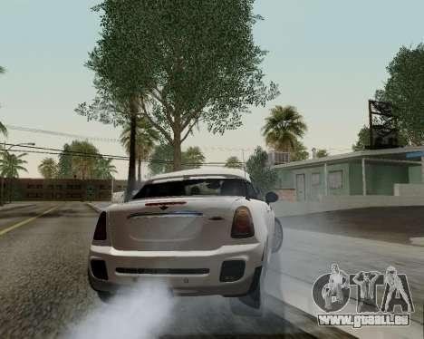 MINI Cooper S 2012 pour GTA San Andreas vue de dessus