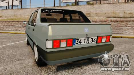 Tofas Dogan v2.0 pour GTA 4 Vue arrière de la gauche