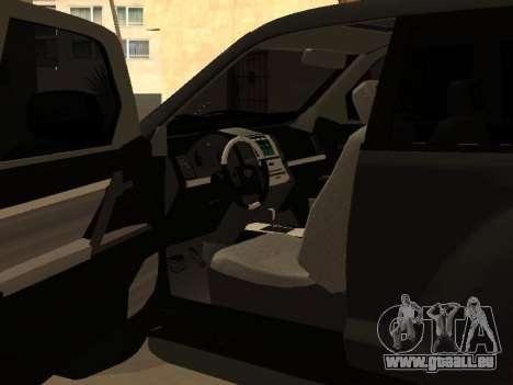 Toyota Land Cruiser Prado 2012 pour GTA San Andreas vue de droite