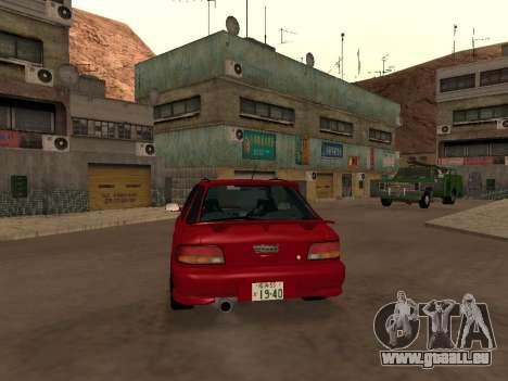 Subaru Impreza Wagon für GTA San Andreas rechten Ansicht