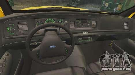 Ford Crown Victoria 1999 SF Yellow Cab für GTA 4 Rückansicht
