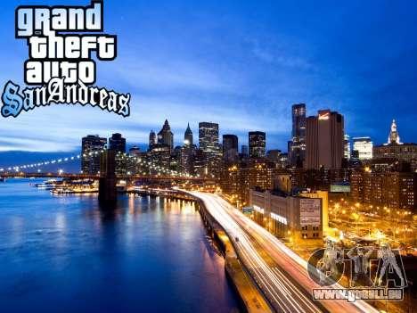 Loadscreens New-York pour GTA San Andreas quatrième écran