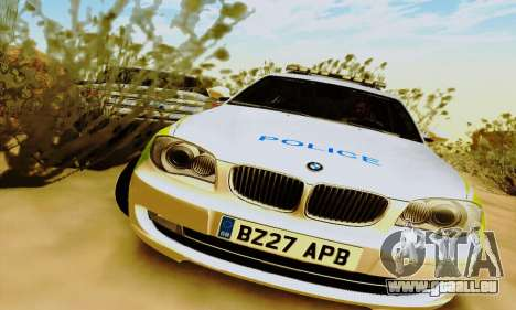 BMW 120i SE Police für GTA San Andreas linke Ansicht