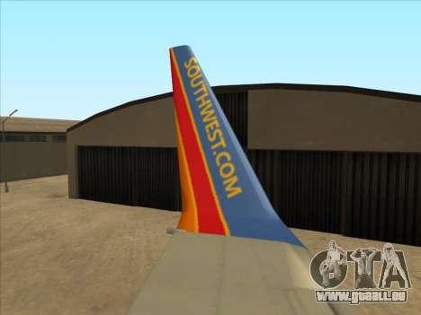 Boeing 737 Southwest Airlines für GTA San Andreas Seitenansicht