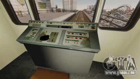 Le chef du métro de wagon modèle 81-717 pour GTA 4 troisième écran