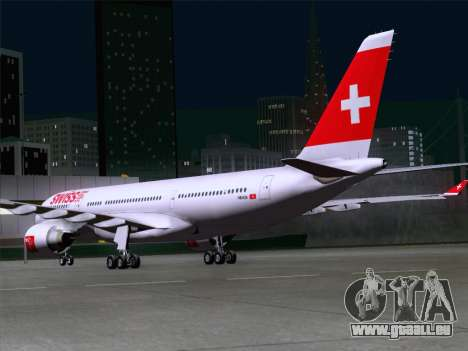 Airbus A330-223 Swiss International Airlines pour GTA San Andreas vue de droite
