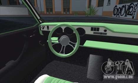 Dacia 1300 Retro Art pour GTA San Andreas vue intérieure