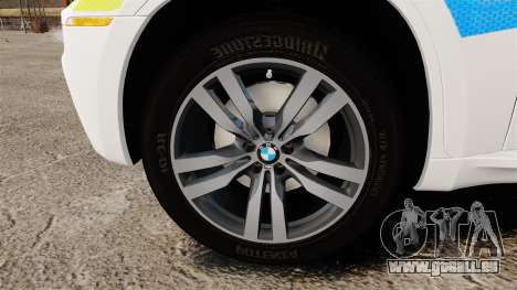 BMW X6 Lancashire Police [ELS] für GTA 4 Rückansicht