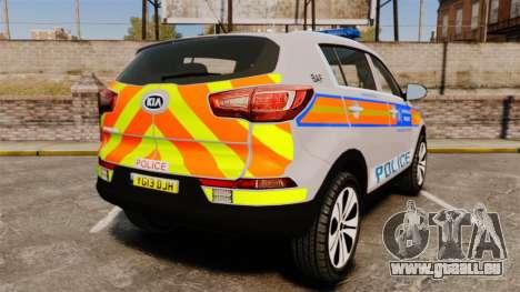 Kia Sportage Metropolitan Police [ELS] pour GTA 4 Vue arrière de la gauche