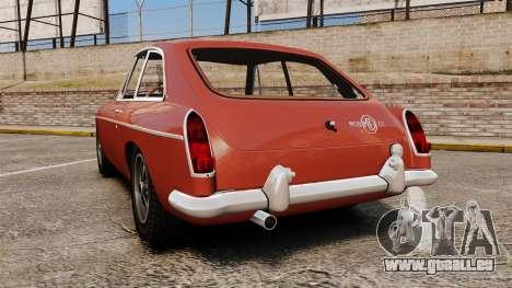 MG MGB GT 1965 pour GTA 4 Vue arrière de la gauche