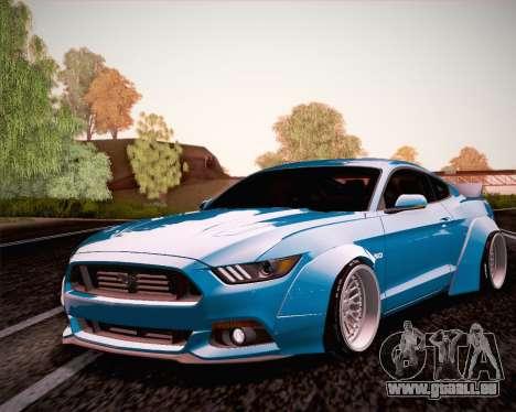 Ford Mustang Rocket Bunny 2015 für GTA San Andreas Rückansicht