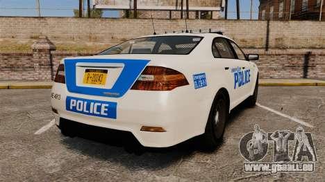 GTA V Vapid Police Interceptor LCPD [ELS] pour GTA 4 Vue arrière de la gauche