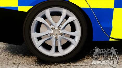 Audi S4 Police [ELS] für GTA 4 Rückansicht